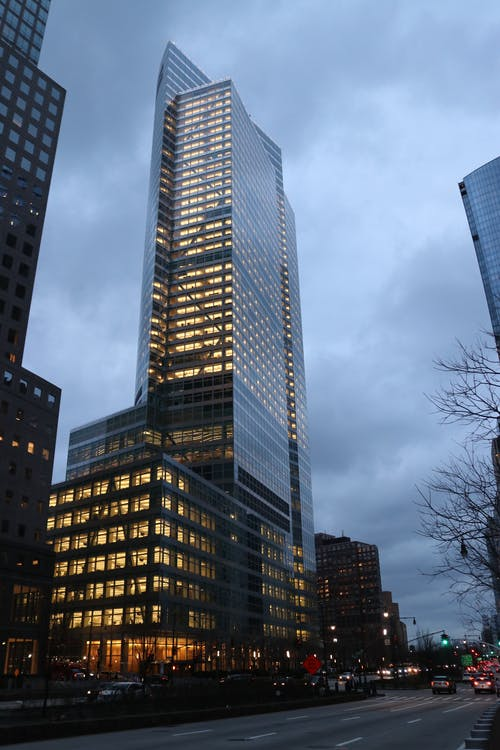 High Rise Buildings Under the Cloudy Sky