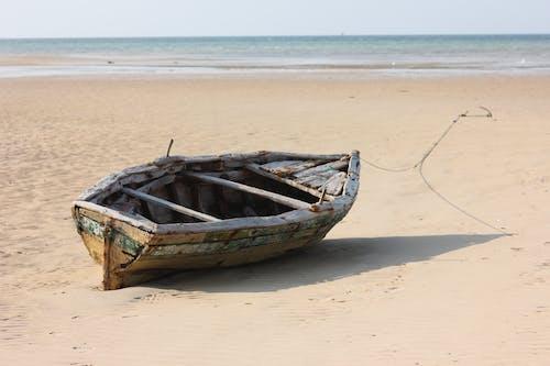 ビーチ, ボート, マルーンの無料の写真素材