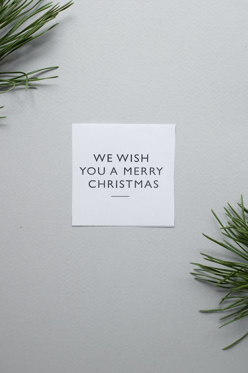 Greeting card on gray background