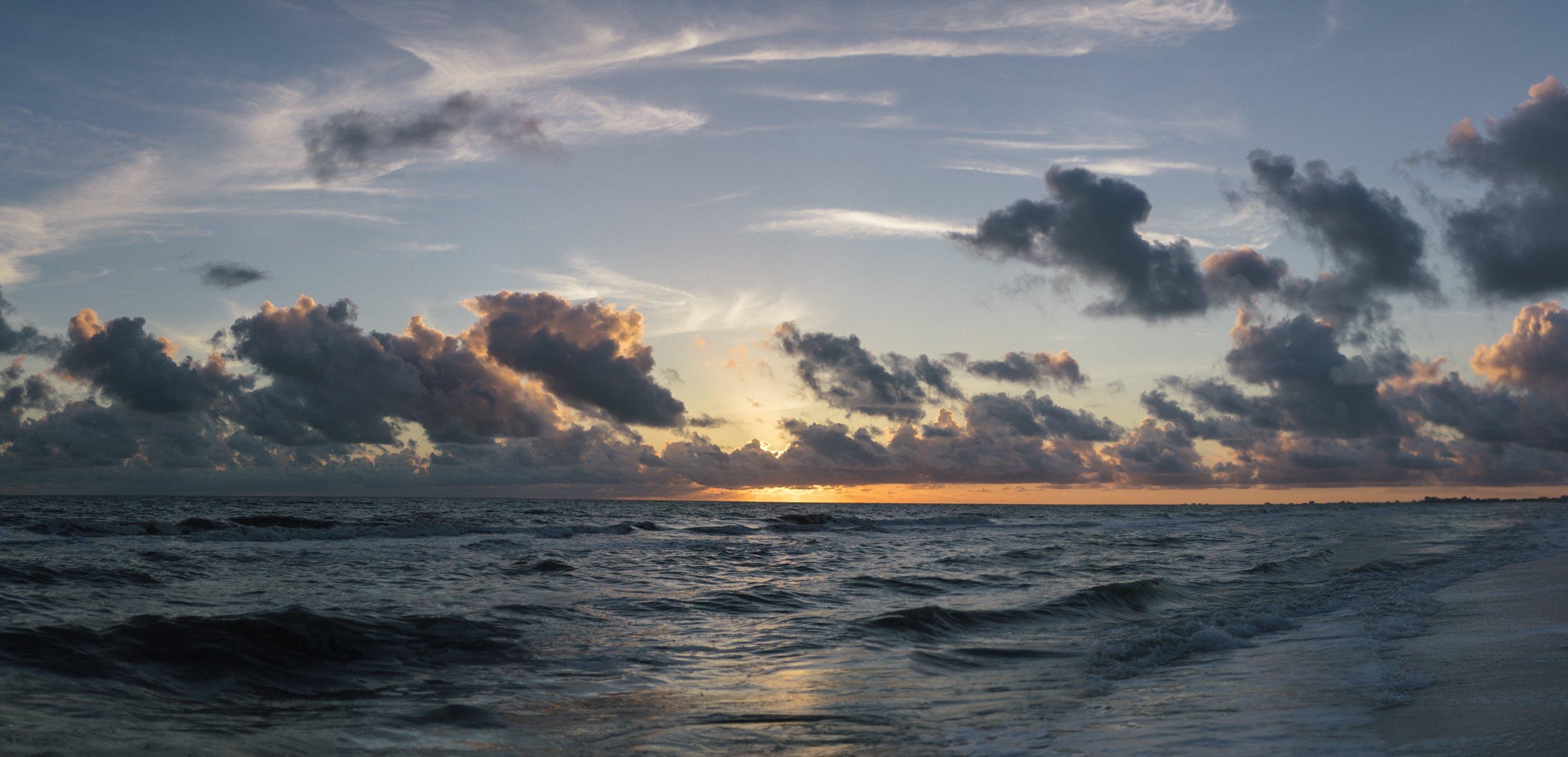 Free stock photo of light, sea, dawn, nature