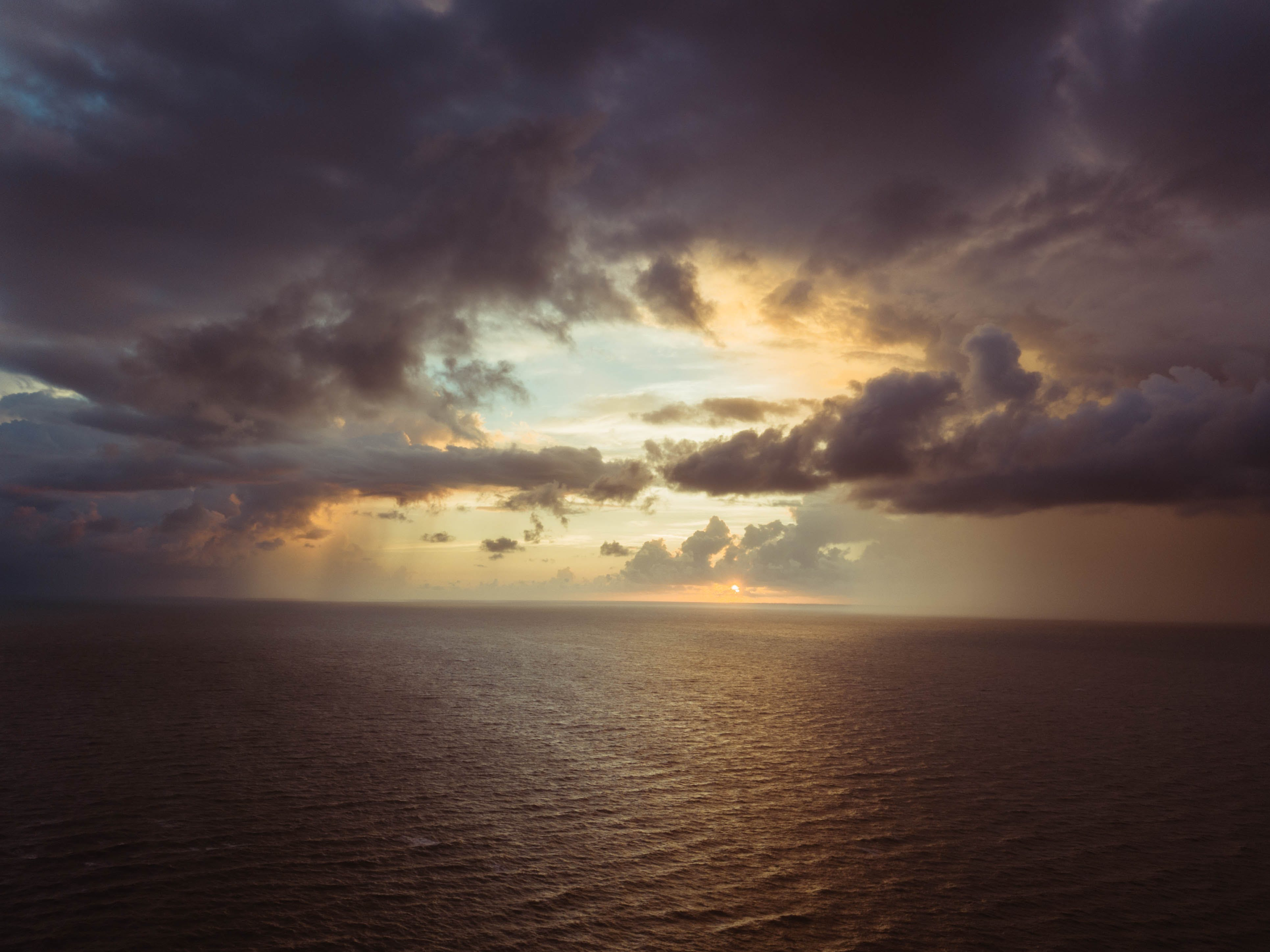 Cumulonimbus Cloud Above Sea