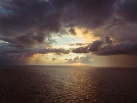 Free stock photo of sea, bird's eye view, dawn, nature