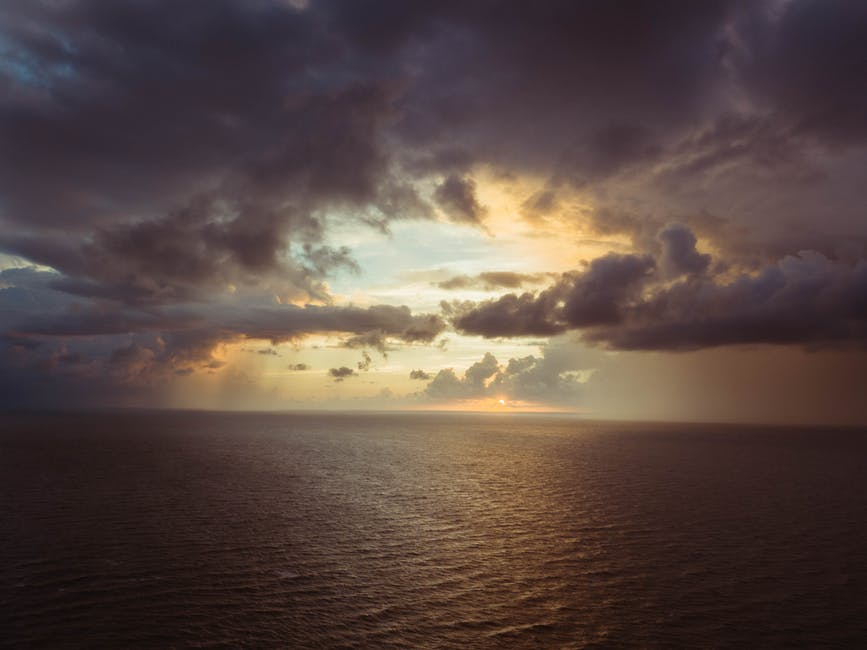 New free stock photo of sea, bird's eye view, dawn