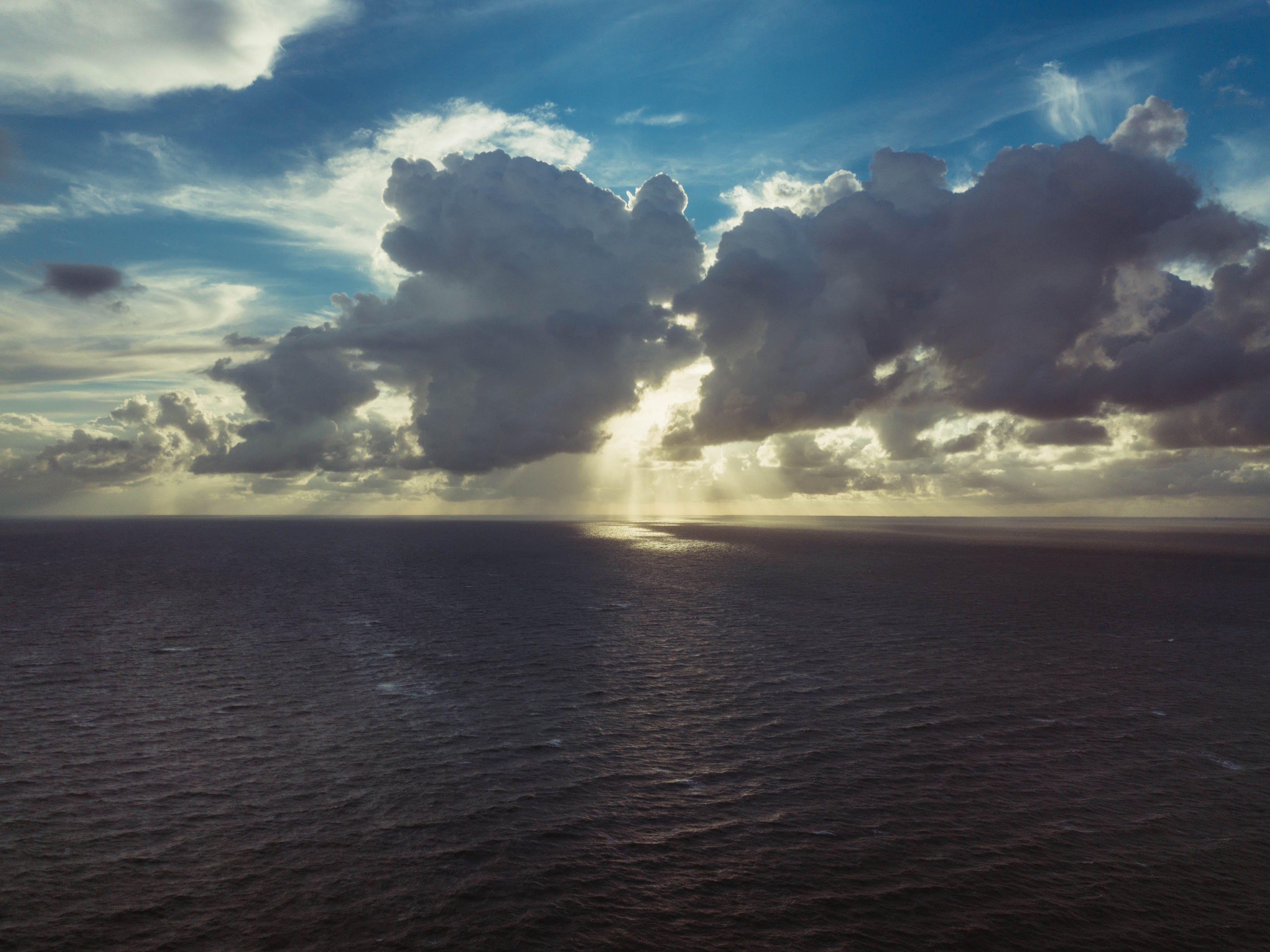 Dark Clouds at the Sea