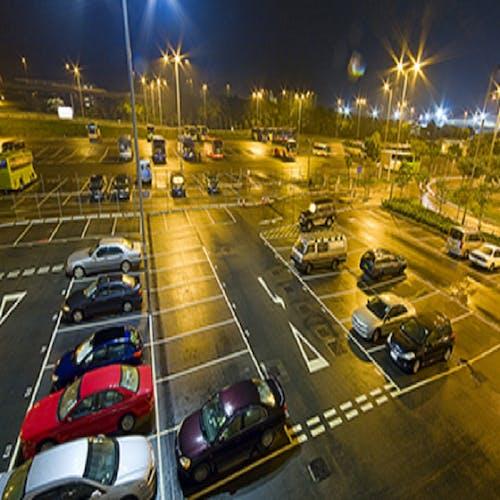 Gratis lagerfoto af led parkeringsplads lys, solar led street light