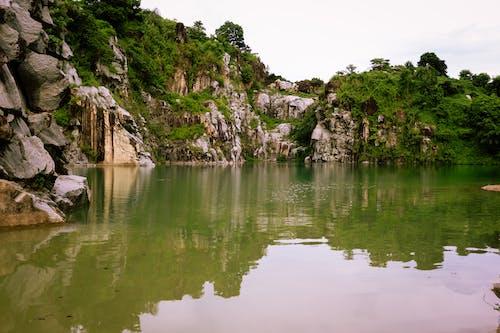 Free stock photo of beautiful nature, blue water, hills, rocks