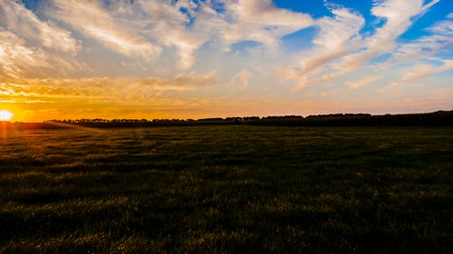 Kostenloses Stock Foto zu landschaft, sonnenuntergang