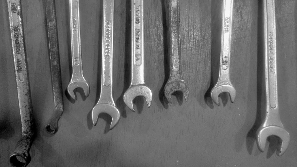 εργαλεία, Εργαστήρι, κλειδιά