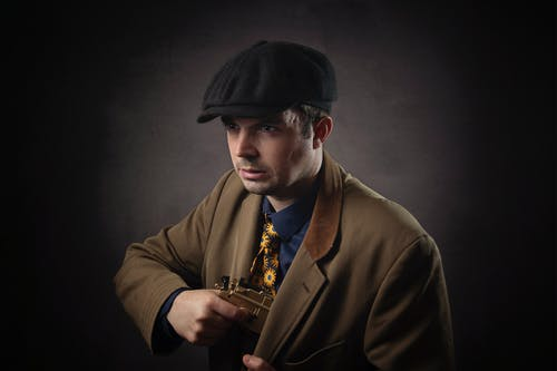 Free stock photo of Gent male brown coat cap