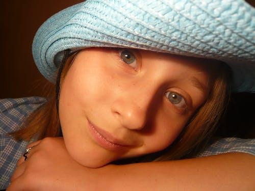 Free stock photo of blue eyes, child, curiosity