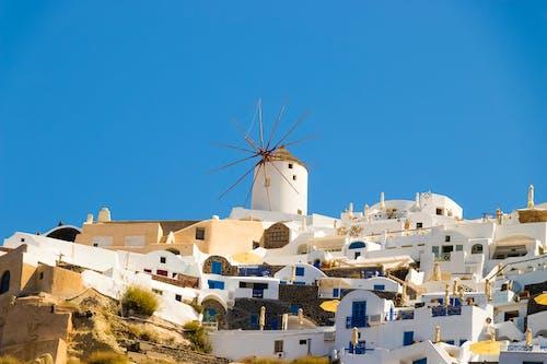 Gratis lagerfoto af arkitektur, blå, by, caldera