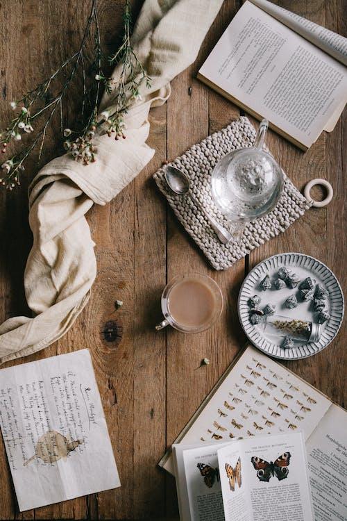 Foto d'estoc gratuïta de antic, cafè, carta