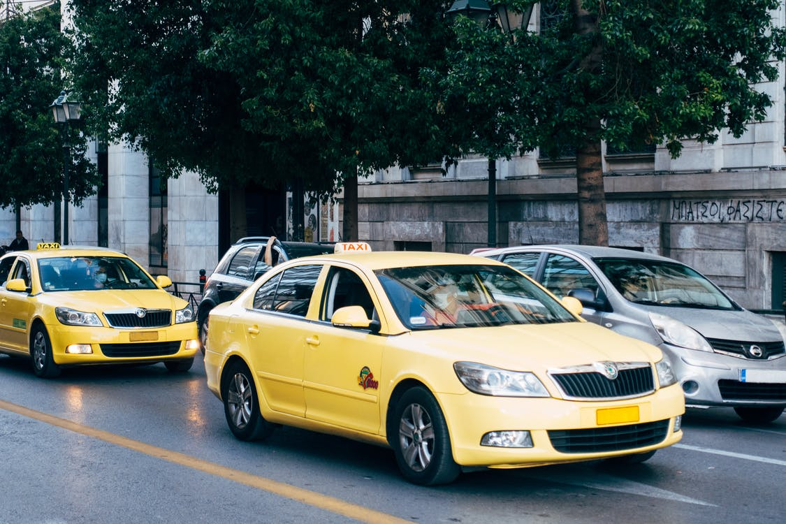 Yellow Taxi Cab on the Street