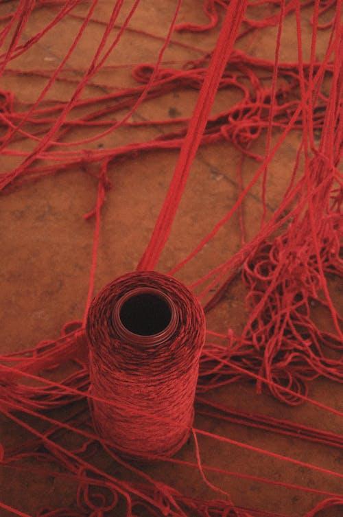 Thread spool for knitting in studio
