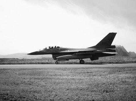 Free stock photo of black-and-white, flight, landscape, sky