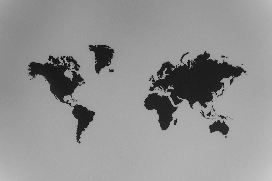 世界地圖, 人, 剪影 的 免費圖庫相片