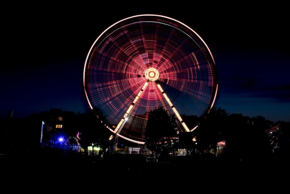amusement park, carnival, city