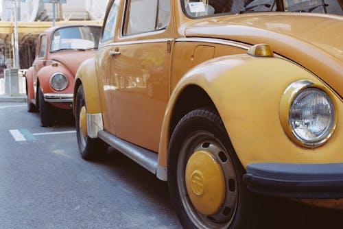 Yellow Volkswagen Beetle Vintage Car