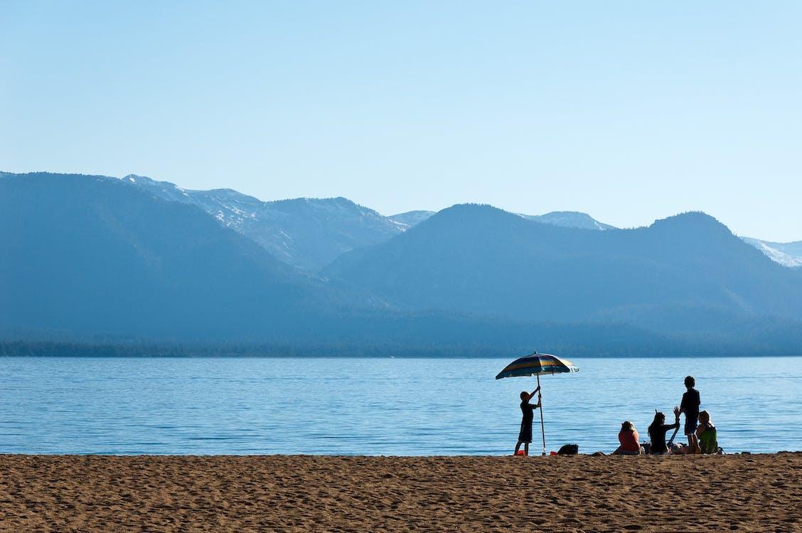 берег озера, відпустка, літо