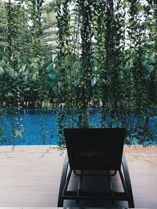Free stock photo of blue water, chair, green, holiday