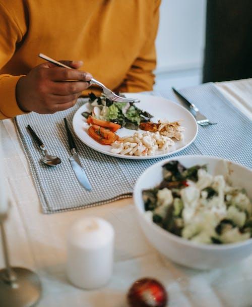 Gewas Zwarte Man Eten Diner