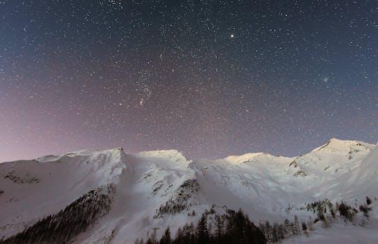 Foto de archivo libre de frío, nieve, paisaje, naturaleza