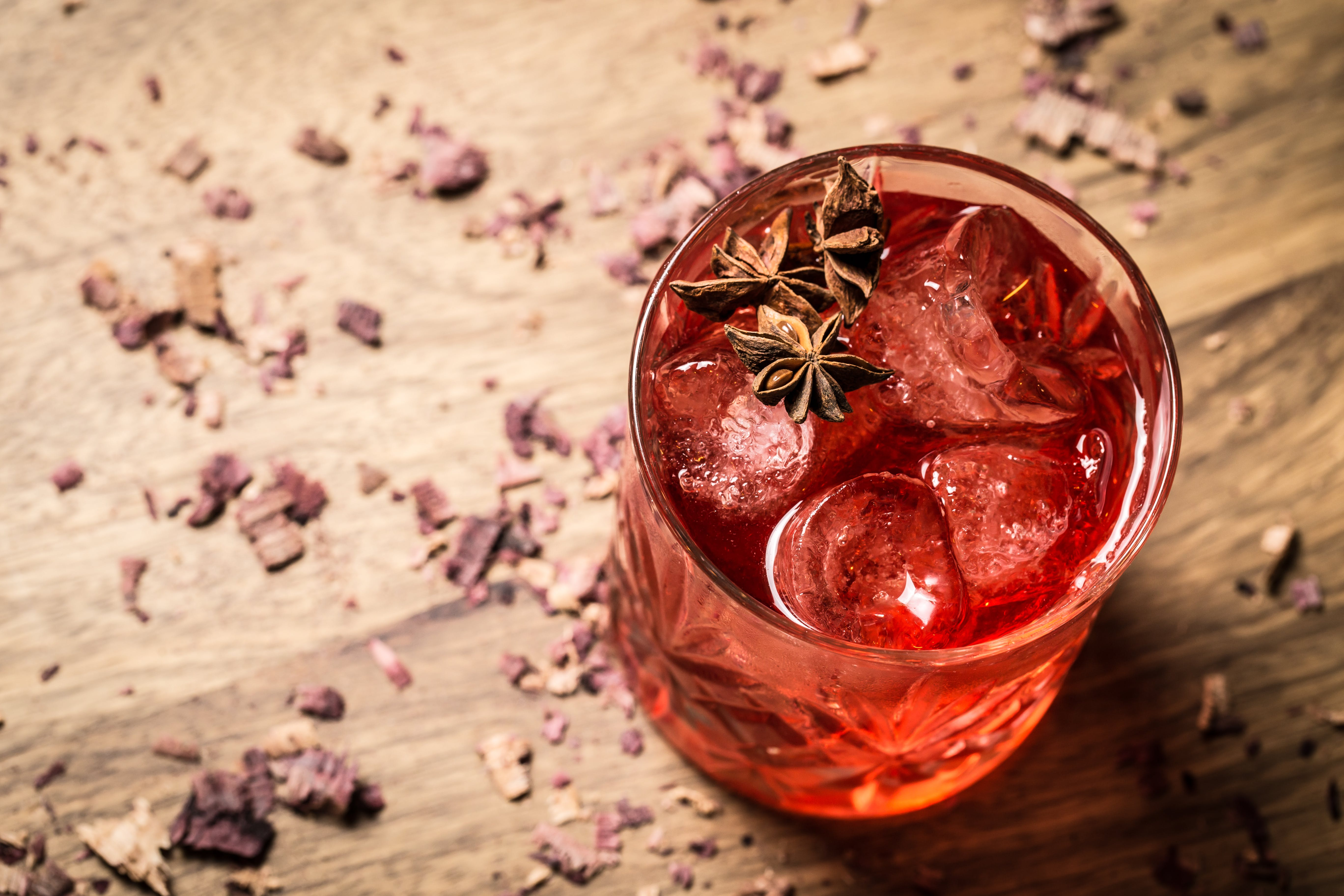 Free stock photo of anise, artificial flowers, cocktail, cocktail glass