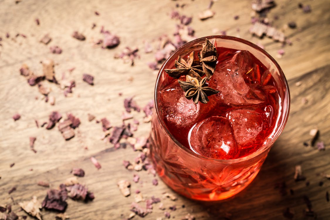 Free stock photo of anise, artificial flowers, cocktail