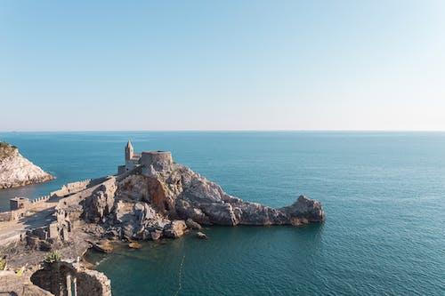 利古里亚, 在海邊, 城堡, 岩石 的 免费素材照片