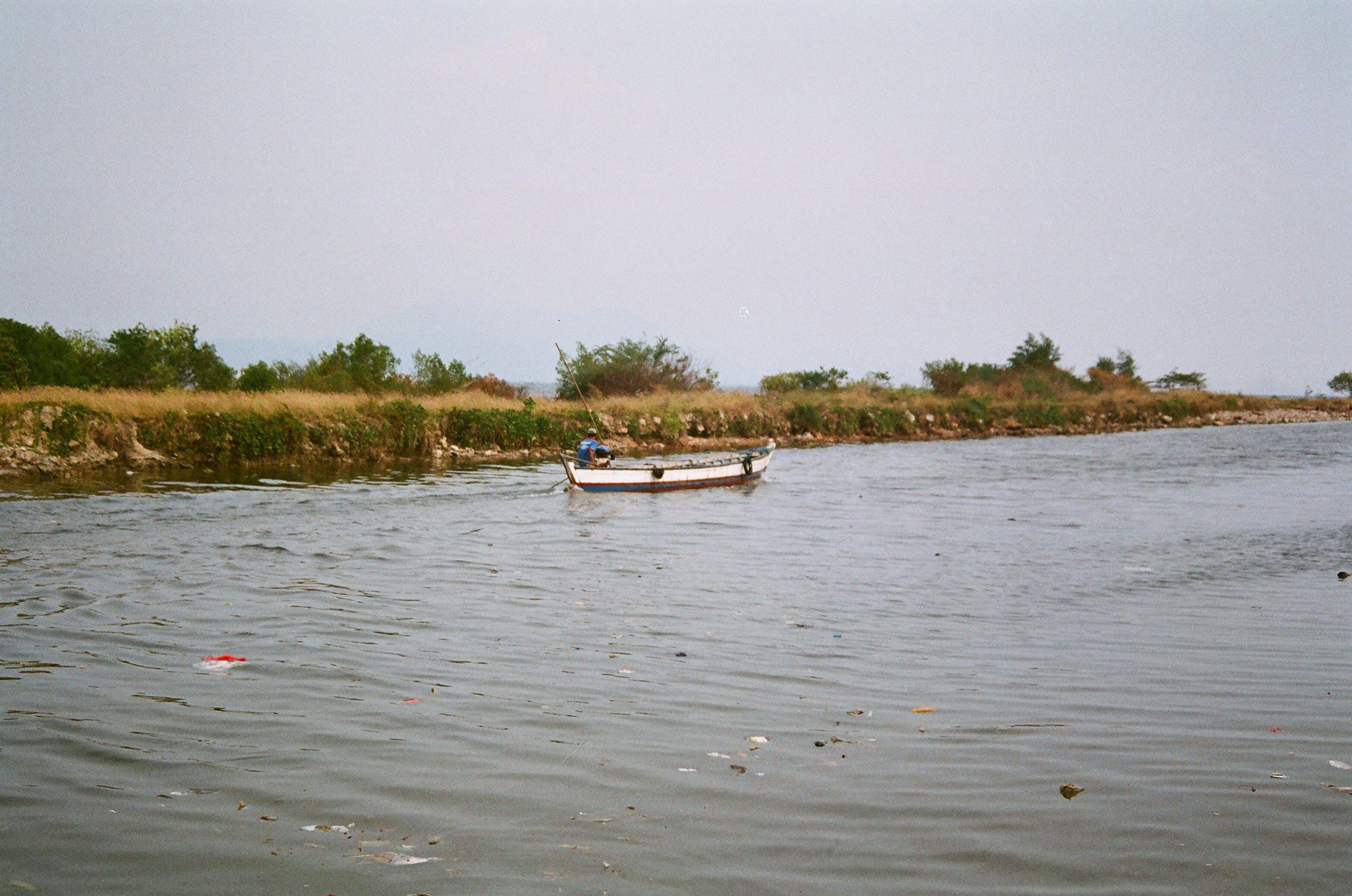 of boat, river, simple, single boat