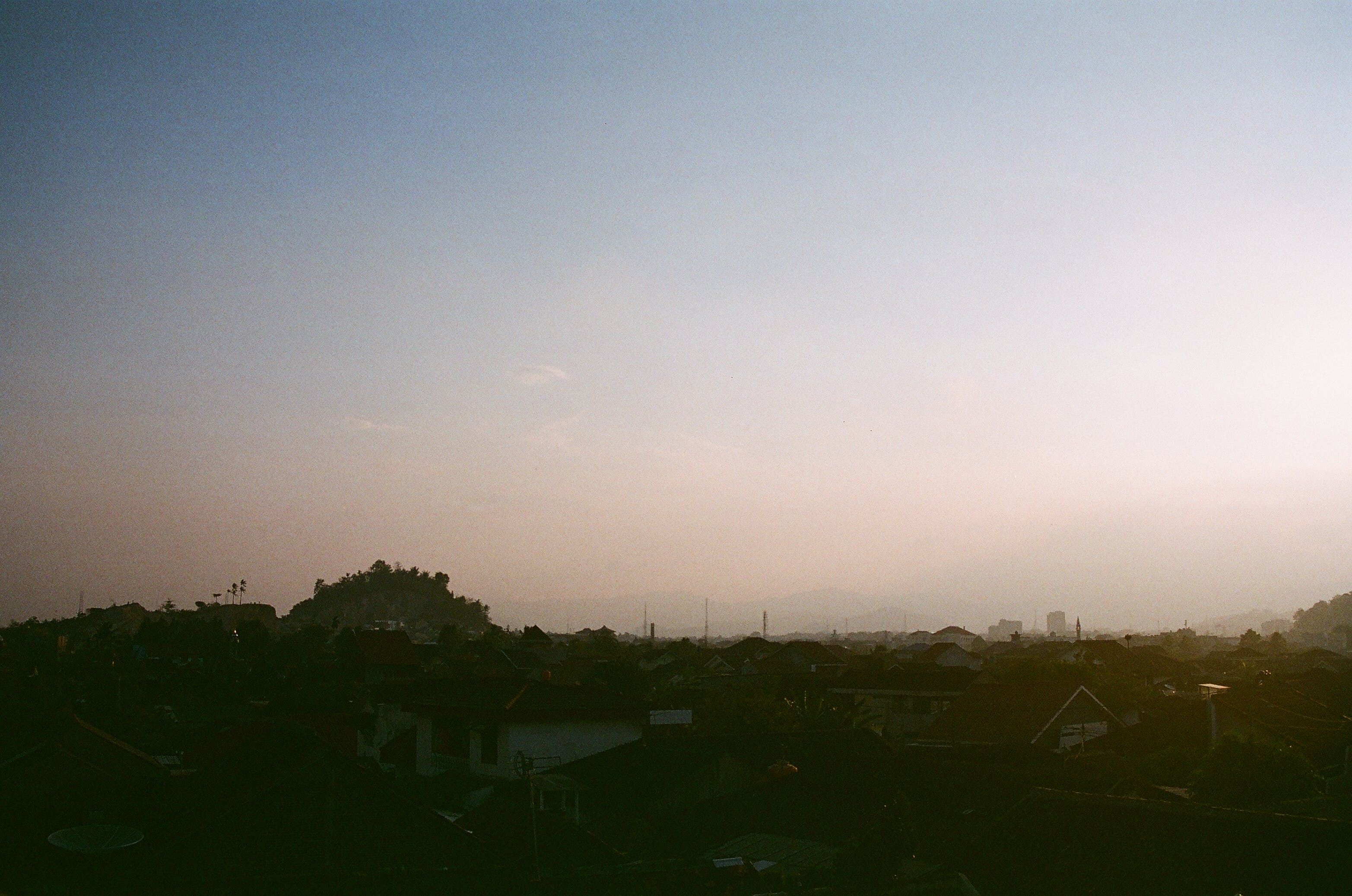 Free stock photo of clear sky, district, hill