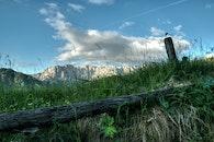 wood, landscape, mountains
