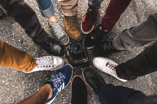 Free stock photo of feet, legs, camera, shoes