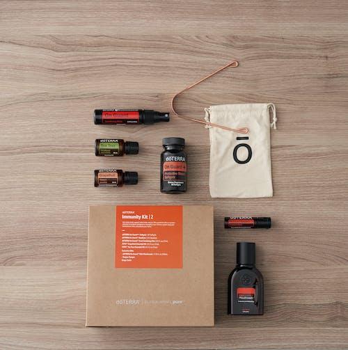 คลังภาพถ่ายฟรี ของ doterra, softgels, woodgrain, กระดาษ