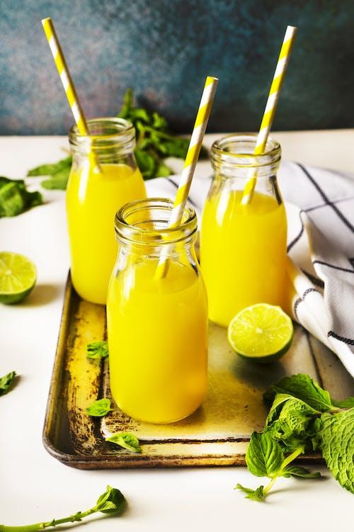 Kostenloses Stock Foto zu fruchtig, gelb, getränk