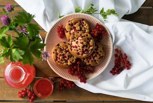 Imagine de stoc gratuită din borcan de sticlă, coacăză roșie, copt la cuptor, decorațiuni alimentare