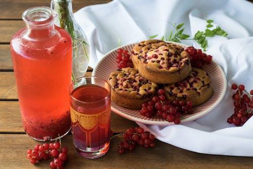 Imagine de stoc gratuită din borcan, brioșe, coacăză roșie, copt la cuptor