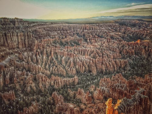 Bird's Eye View Photography Brown Mountain Canyon