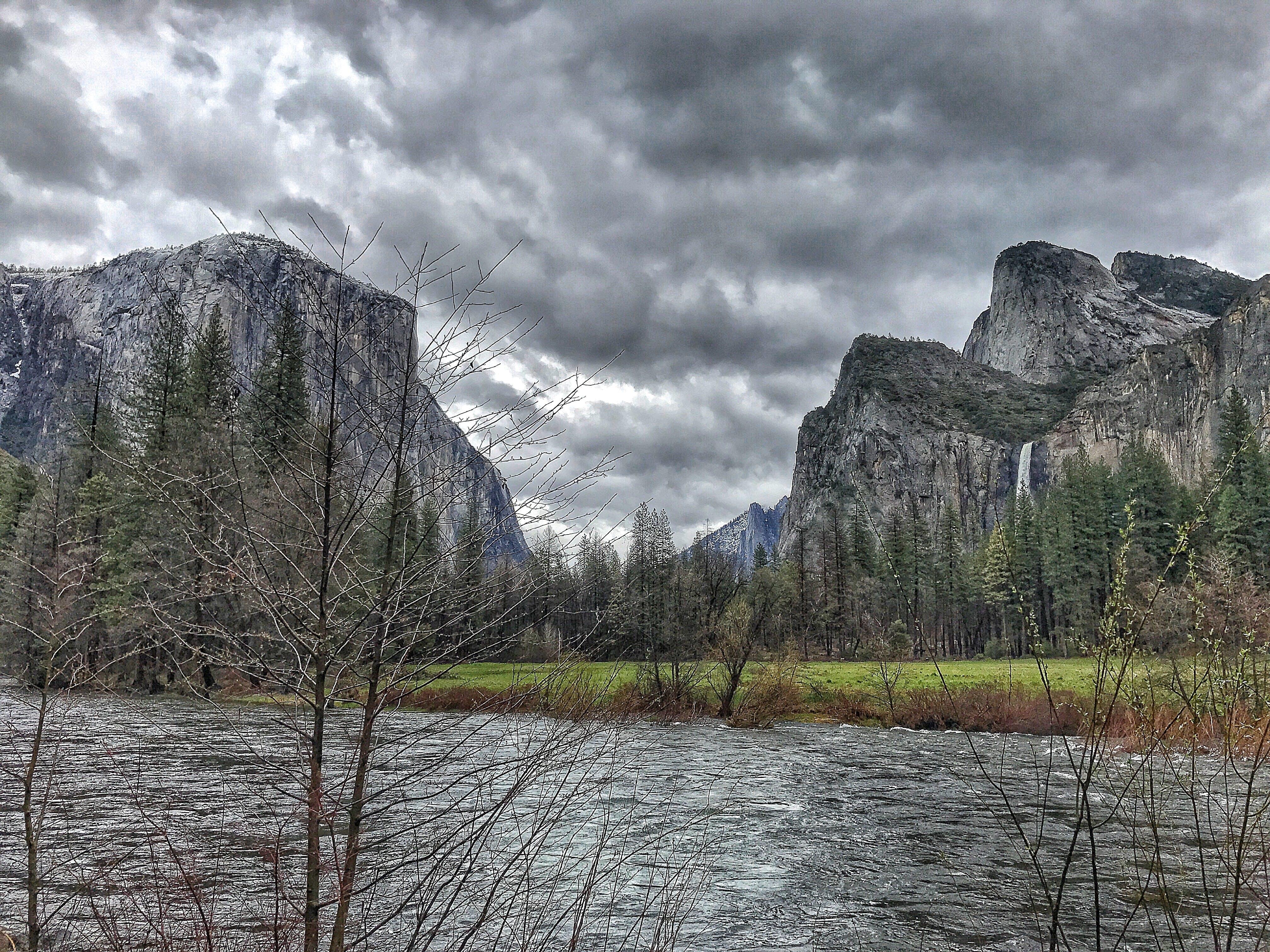 Body of Water Near Rocky Mountains