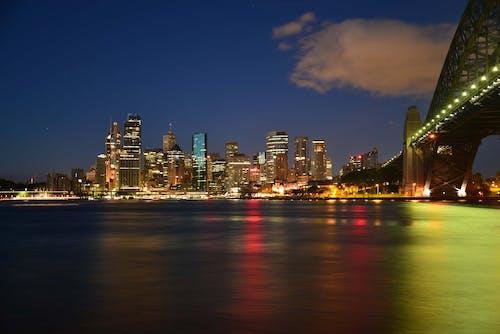 Kostenloses Stock Foto zu australien, beleuchtung, brücke, dämmerung