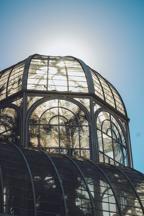 Gray Metal Framed Building With Glass Roof