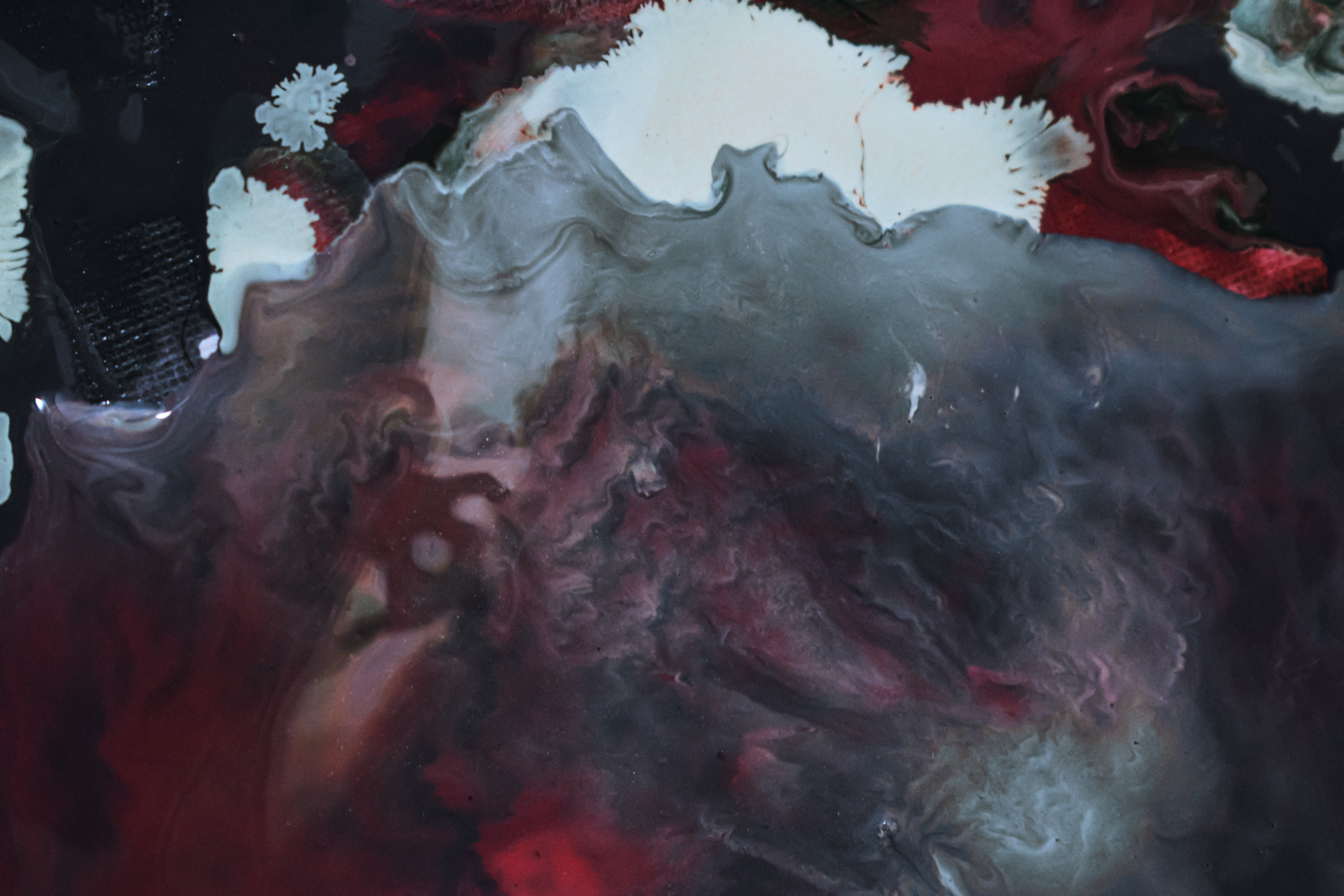 abstract backdrop of painting with wavy fluid