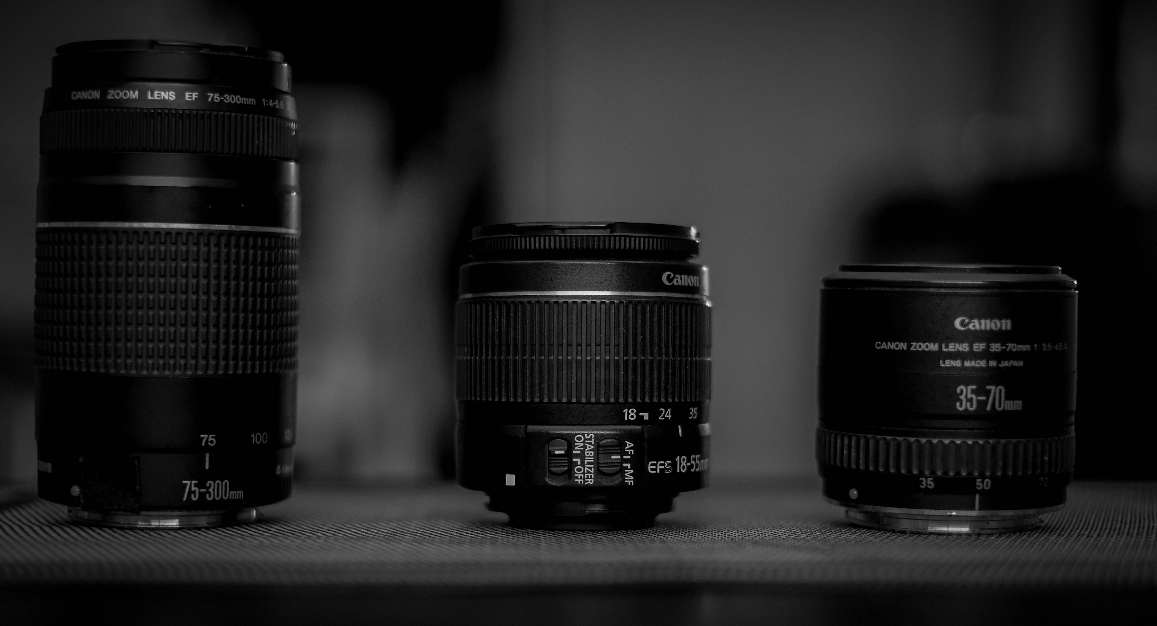 Free stock photo of black and-white, camera lens, photography