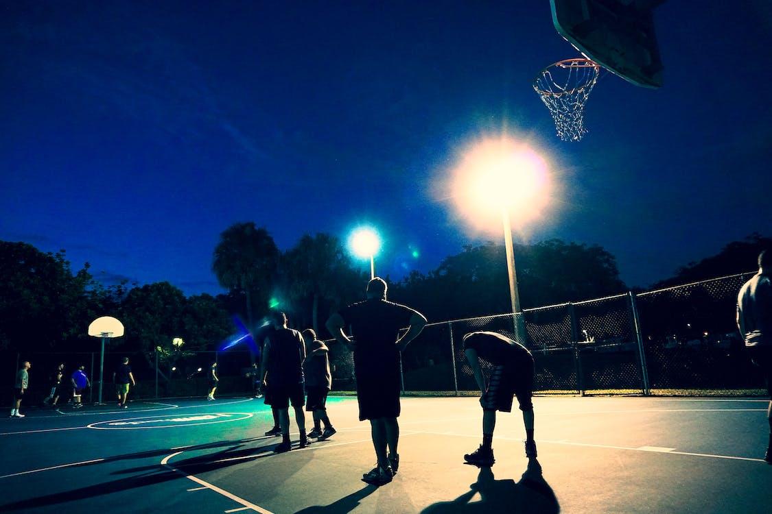 basketbal, koule, míč