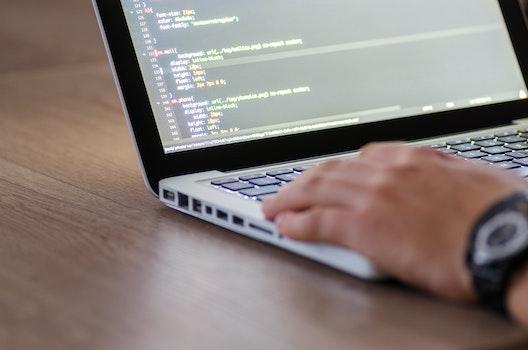 Free stock photo of hand, laptop, computer, keyboard
