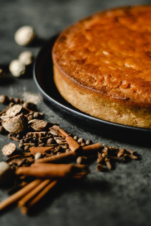 Brown Bread on Black Pan