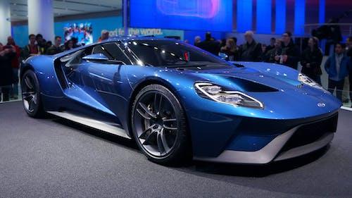 Kostenloses Stock Foto zu auto, autoshow, blau, detroit