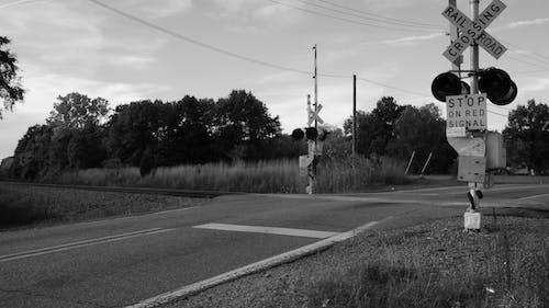 Kostenloses Stock Foto zu bahnübergang, eisenbahn, michigan, spuren