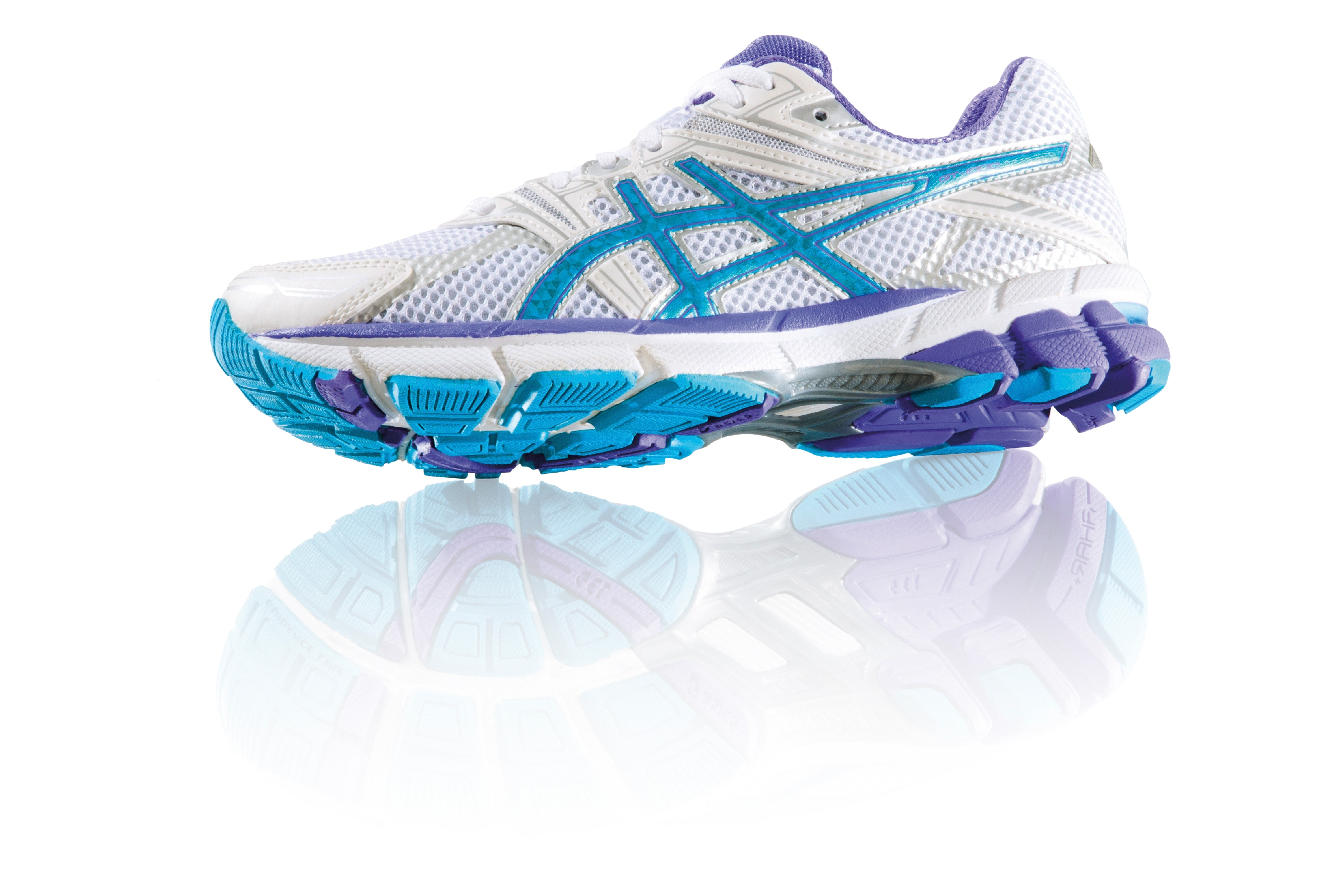 White Blue and Purple Asics Running Shoes · Free Stock Photo be04ee46b