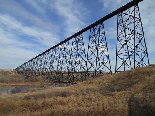 Ingyenes stockfotó híd, magas szintű híd, vonat híd témában